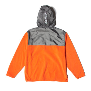 TAPE LOGO FLEECE PARKA - ORANGE