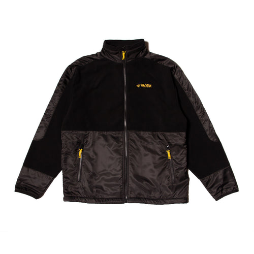 TAPE LOGO FLEECE  JACKET - BLACK