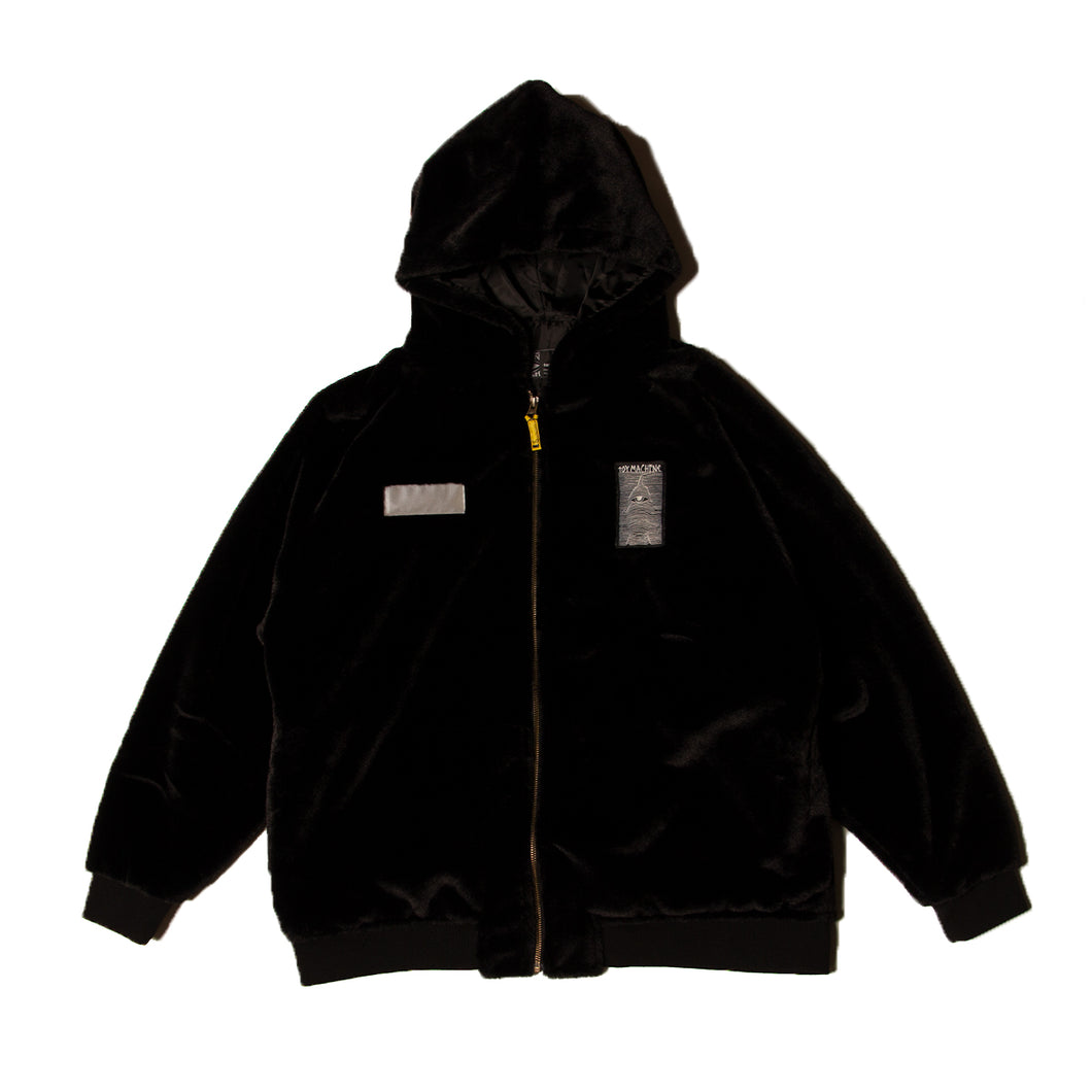 TOYDIVISION FUR PARKA - BLACK