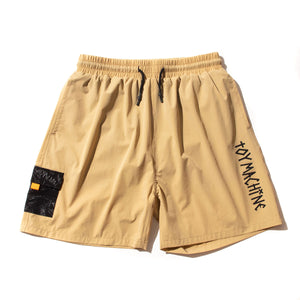 STRETCH POCKET SHORT PANTS - KHAKI