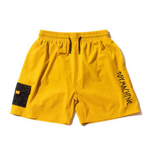 STRETCH POCKET SHORT PANTS - GOLD