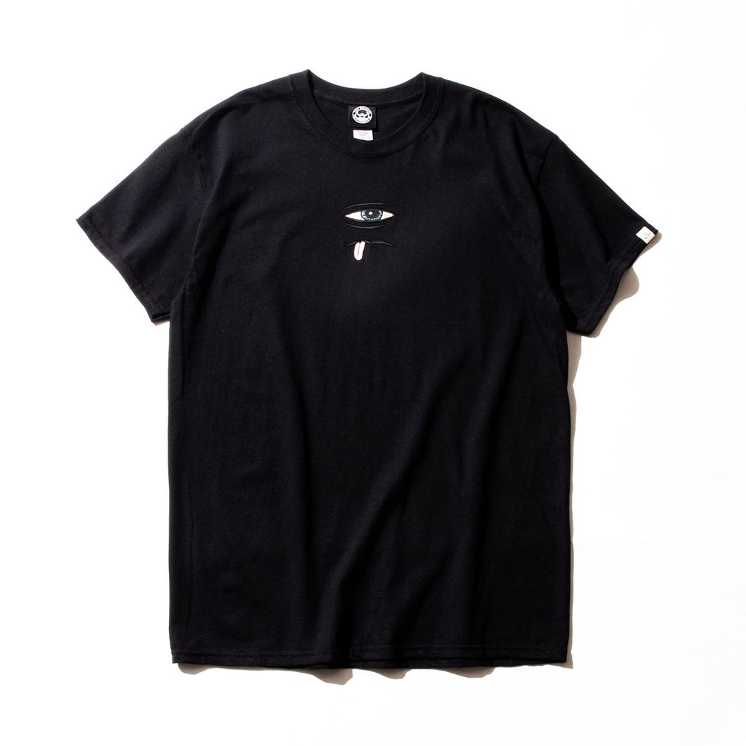 SECT EYE EMBROIDERY SS TEE - BLACK