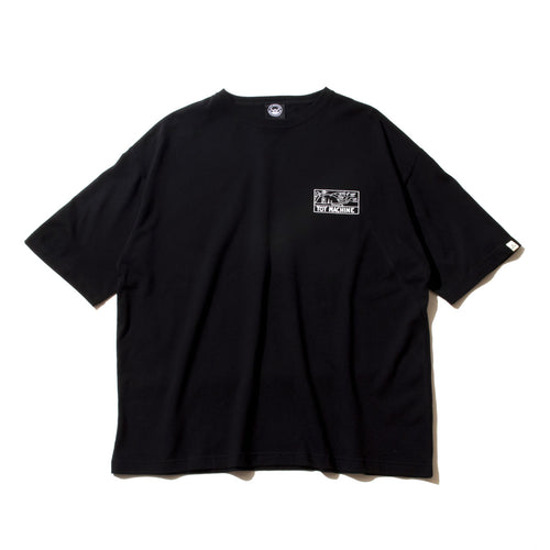 (WIDE TEE) DRUGGED EYES SS TEE - BLACK
