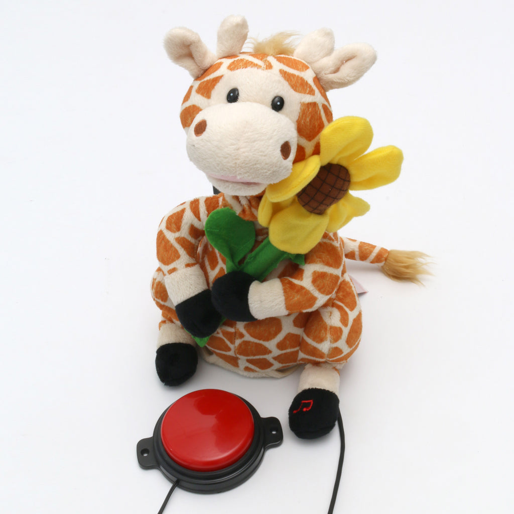 Plush Giraffe Adapted Toy for Children with Disabilities