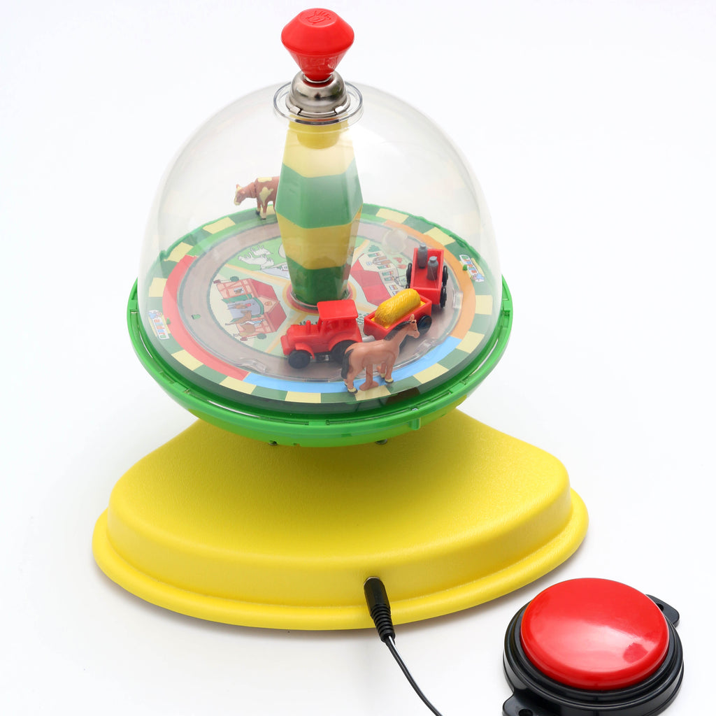 Spinning Farm Animals Switch Adapted Toy