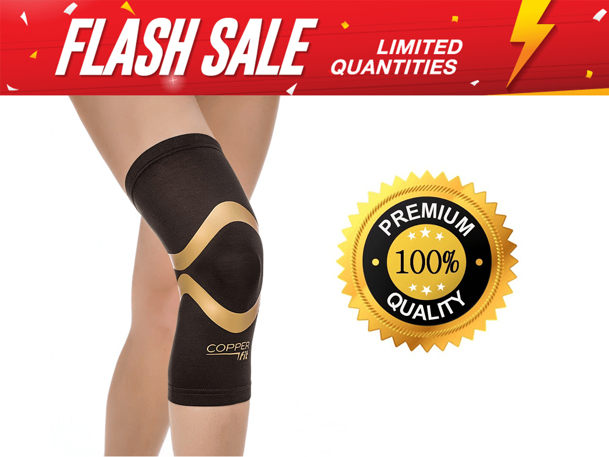 2b3e62250c This item: Copper Fit Knee Brace - Copper Fit Pro Series Knee Support Sleeve  -