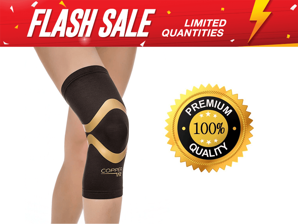 cd0fb9bcb5 Copper Fit Knee Brace - Copper Fit Pro Series Knee Support Sleeve - Reviews  5 Star ...