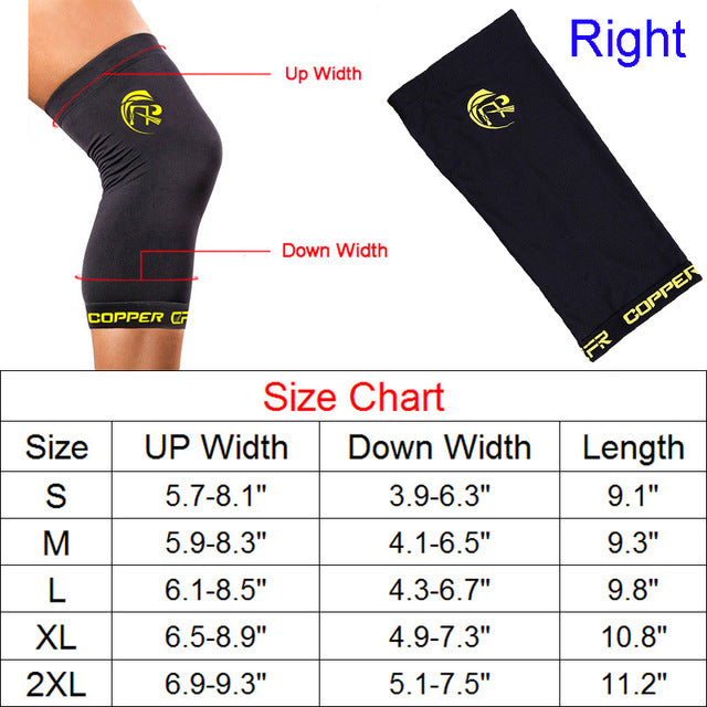 beacab7586 Copper Compression Recovery Knee Sleeve - GUARANTEED Highest Copper Content  With Infused Fit.