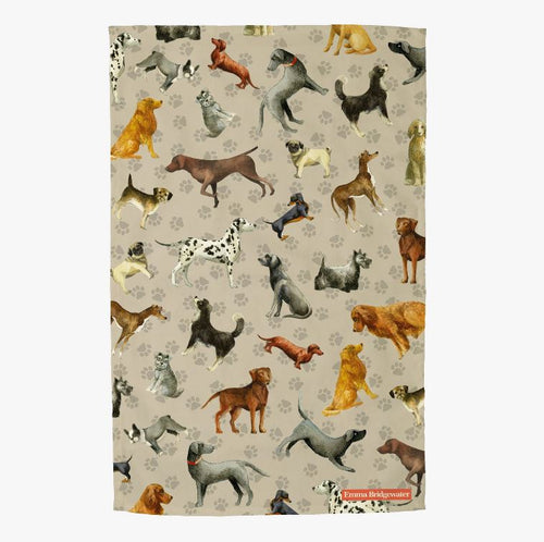Emma Bridgewater' Dogs and Paws Tea Towel