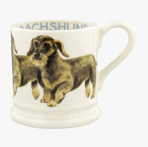 Emma Bridgewater' Dogs Wire Haired Dachshund 1/2 Pint Mug