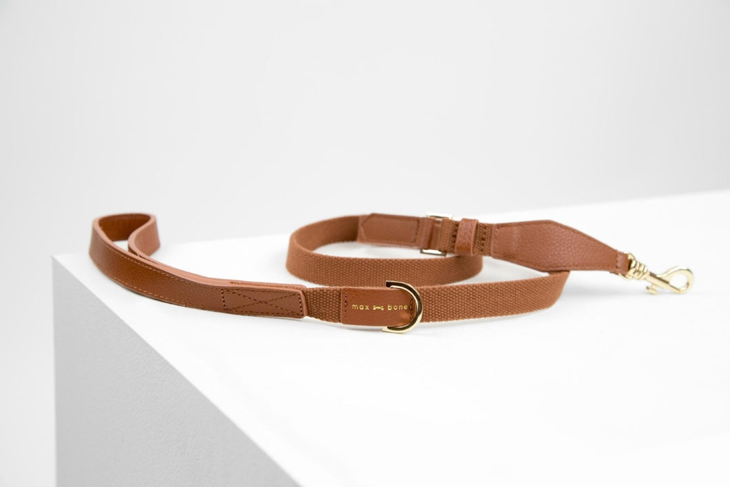 Max Bone - Cognac Elin Leash
