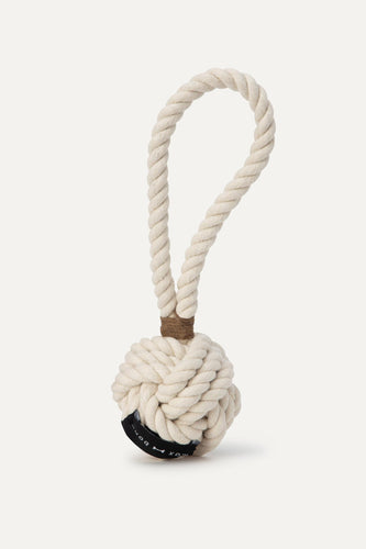 Max Bone - Mid Twisted Rope Toy Off White