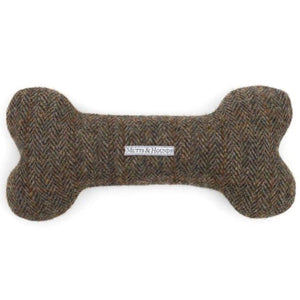 Mutts & Hounds - Heritage Tweed Squeaky Bone Dog Toy