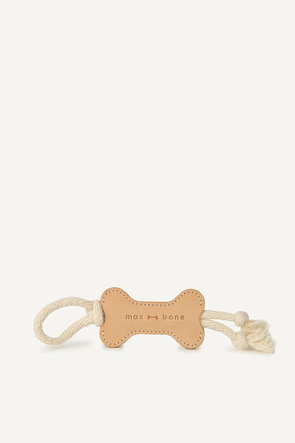 Max Bone - Leather Bone Rope Toy