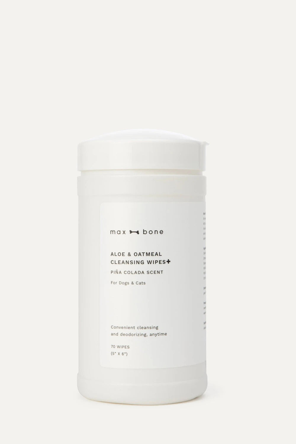 Max Bone - Aloe & Oatmeal Cleansing Wipes