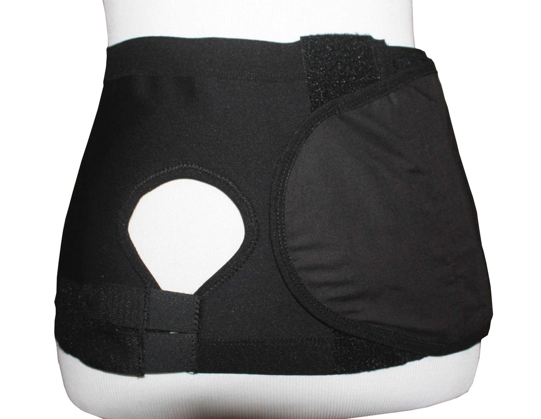 Hernia Support Belt with Adj. Hole Right 20cm Black