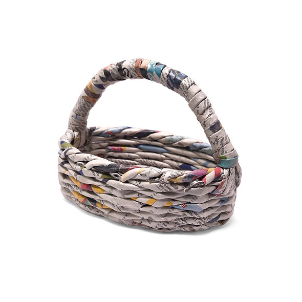Eco-Basket - Oval (With Handle) - The Hindu Lounge