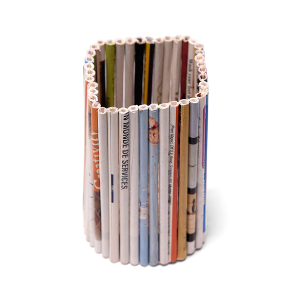 Magazine Mania - Pen Holder (Square) - The Hindu Lounge