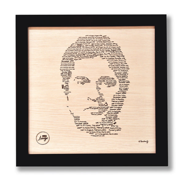 Sachin in the details - Framed Sketch