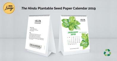The Hindu Plantable Seed Paper Calendar 2019
