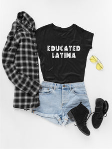 Модерна Дамска тениска Educated Latina