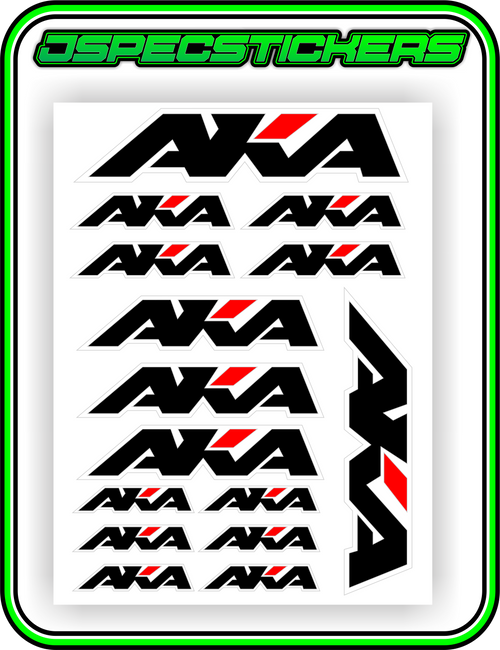 AKA TYRES STICKER SHEET A5 - Jspec Stickers