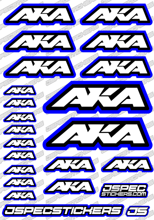 AKA RC STICKER SHEET A5 'RK EDITION'