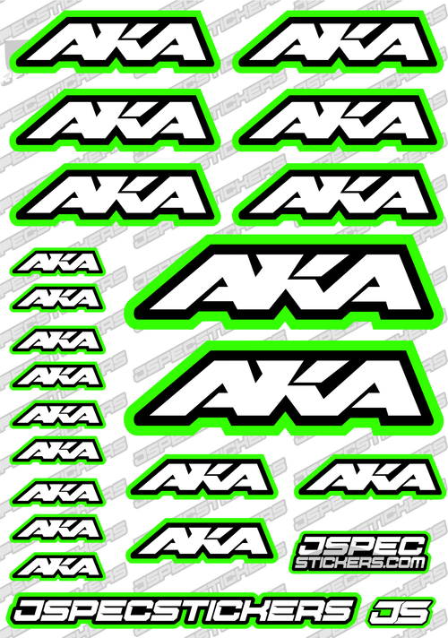 AKA TYRES RC STICKER SHEET A5 'RK EDITION'