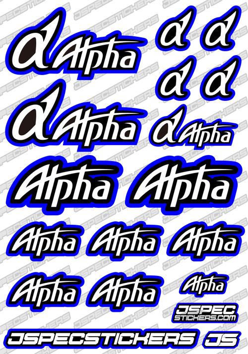 ALPHA ENGINE RC STICKER SHEET A5 'RK EDITION'