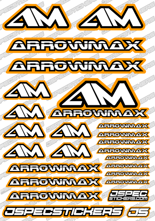 ARROWMAX RC STICKER SHEET A5 'RK EDITION'