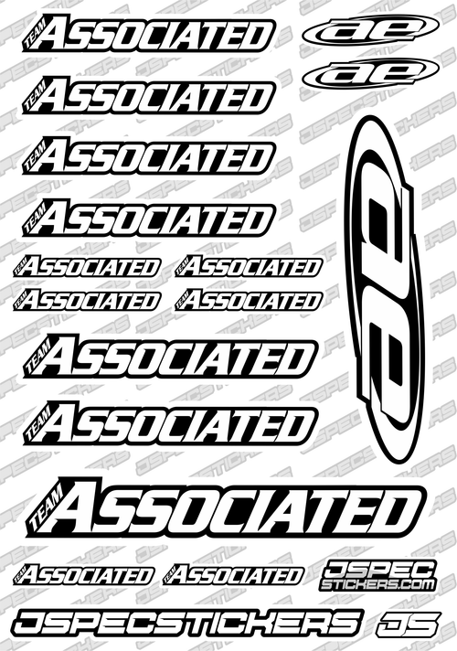 TEAM ASSOCIATED RC STICKER SHEET A5 'RK EDITION'