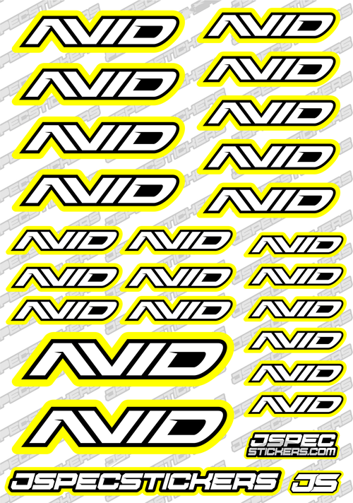 AVID RC STICKER SHEET A5 'RK EDITION'