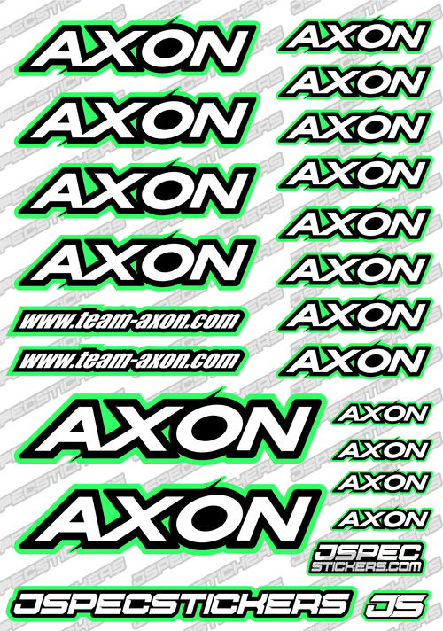 AXON RC STICKER SHEET A5 'RK EDITION'