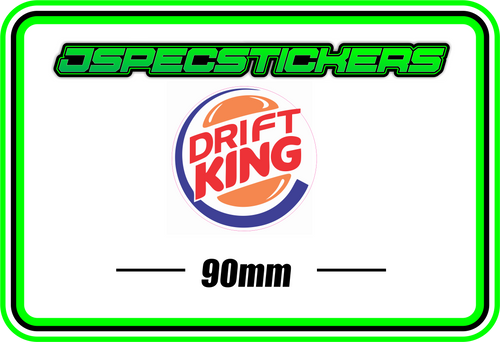 DRIFT KING BUMPER STICKER - Jspec Stickers