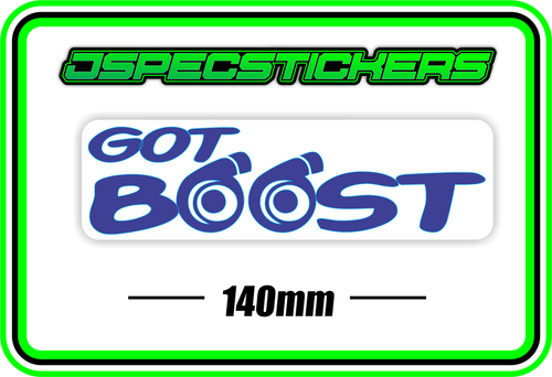 GOT BOOST BUMPER STICKER - Jspec Stickers