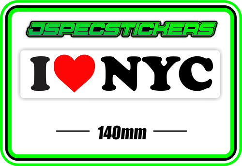 I LOVE NYC BUMPER STICKER - Jspec Stickers