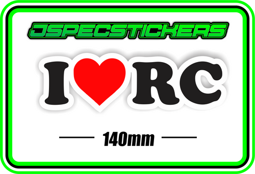 I LOVE RC BUMPER STICKER - Jspec Stickers