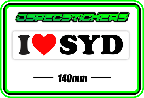 I LOVE SYD BUMPER STICKER - Jspec Stickers