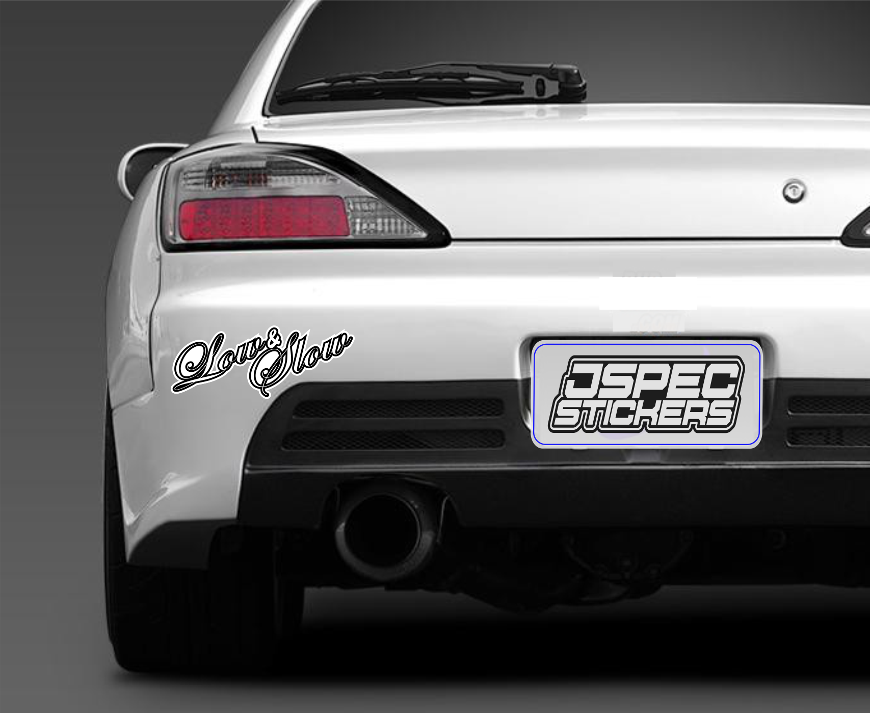 LOW AND SLOW BUMPER STICKER - Jspec Stickers