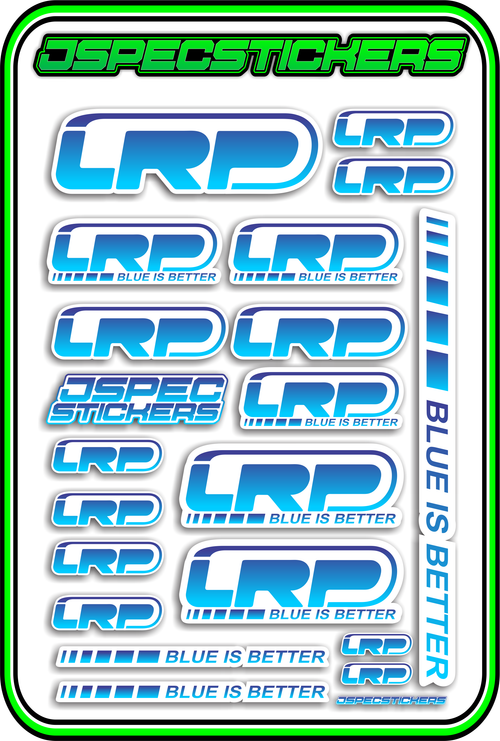 LRP STICKER SHEET A5 - Jspec Stickers