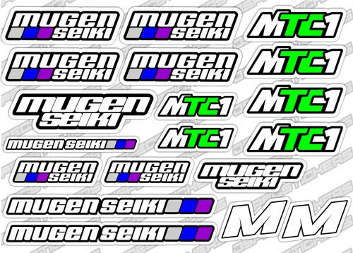 MUGEN MTC-1 STICKER SHEET - Jspec Stickers
