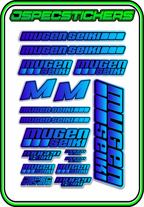 MUGEN SEIKI STICKER SHEET A5 - Jspec Stickers