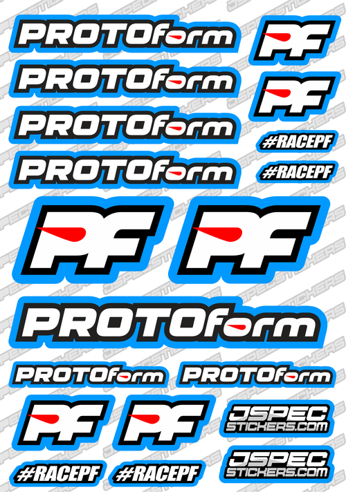 PROTOFORM RC STICKER SHEET A5 'RK EDITION'