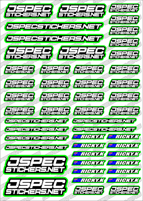 CUSTOM RK EDITION STICKERS - Jspec Stickers