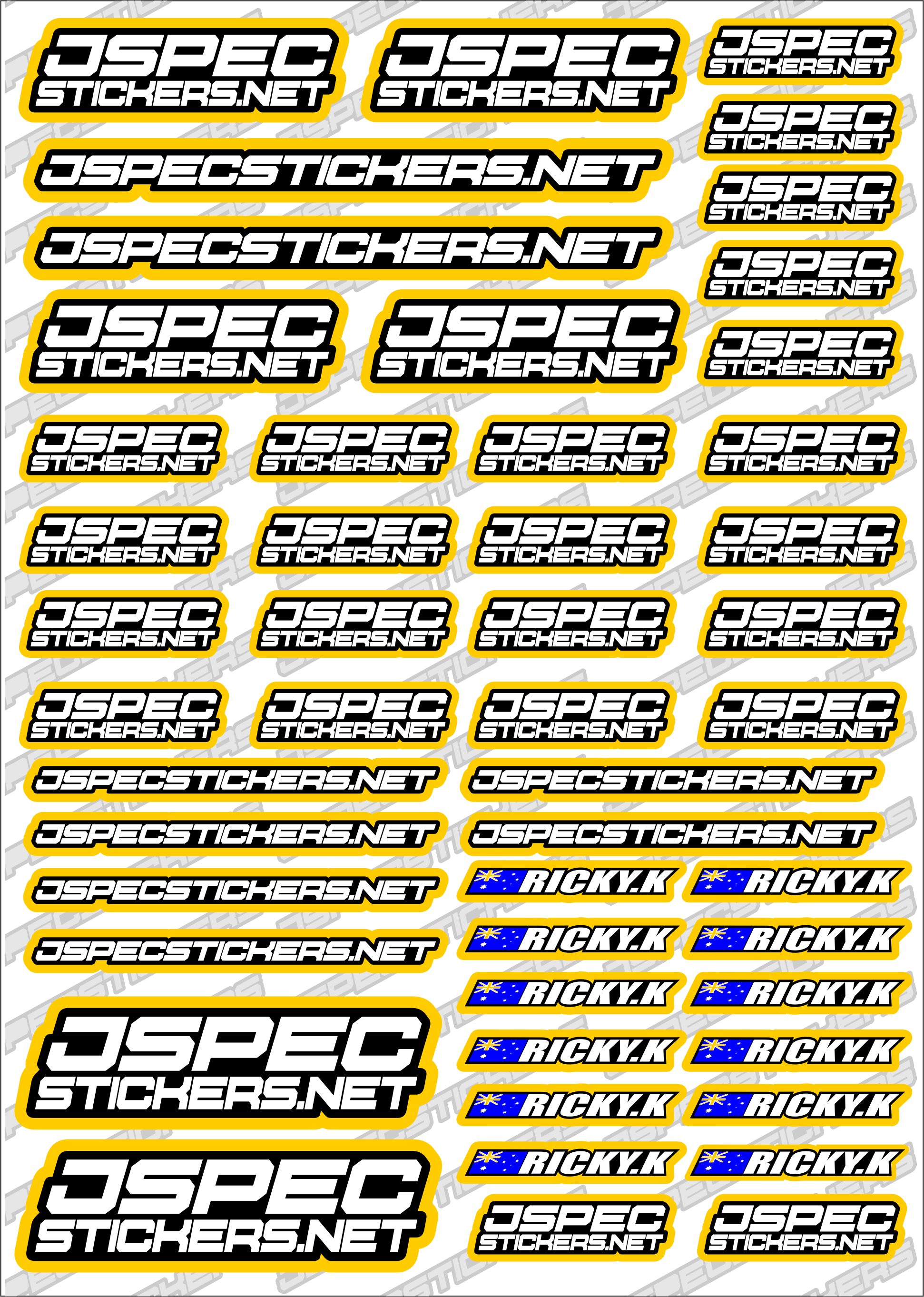 RK EDITION CUSTOM STICKERS - Jspec Stickers