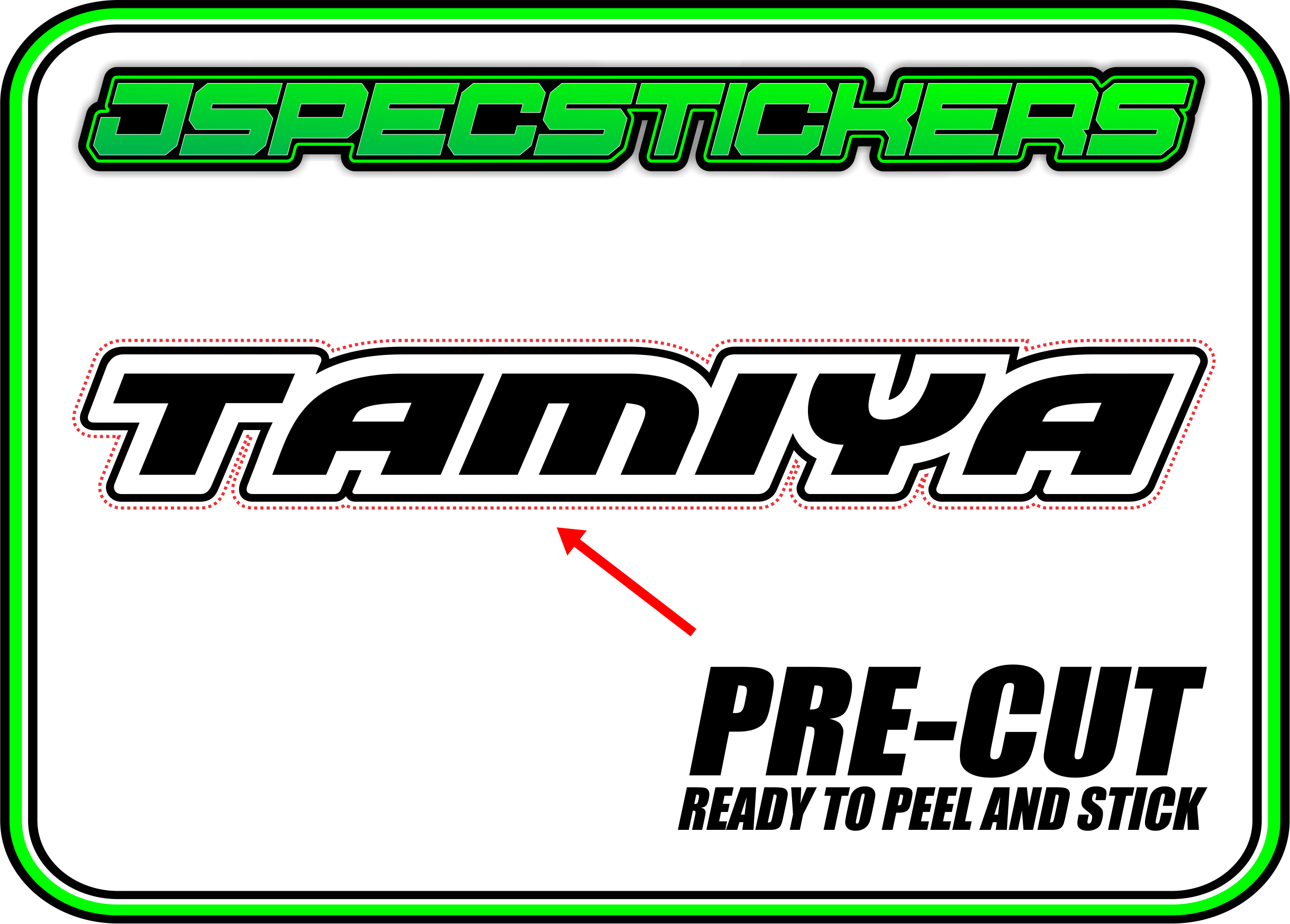 TAMIYA TRF RC STICKER SHEET A5 - Jspec Stickers
