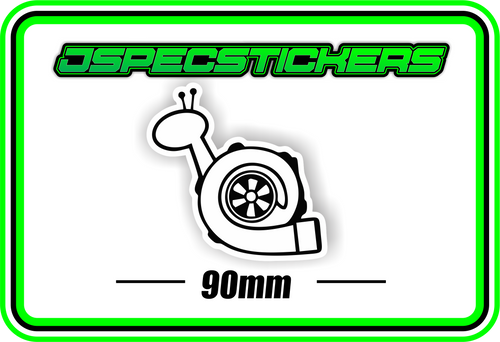TURBO SNAIL BUMPER STICKER - Jspec Stickers