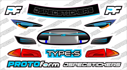 PROTOform Headlight / Grill Sticker kit - Jspec Stickers