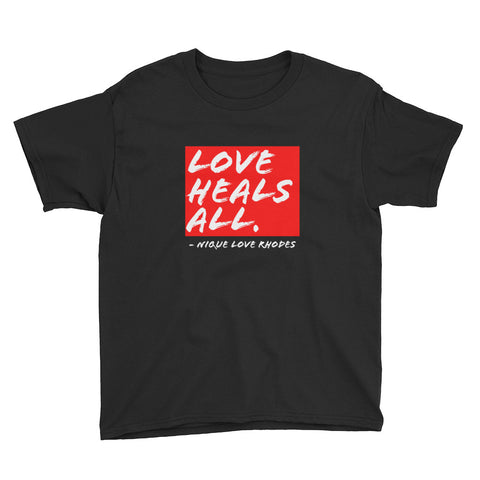 Love Heals All Youth T-Shirt - Black