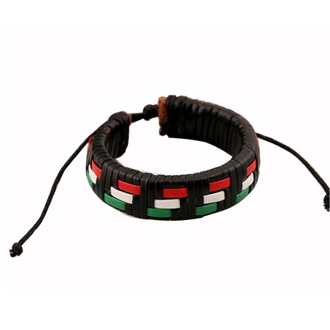NLR RBG Weave Leather Bracelet